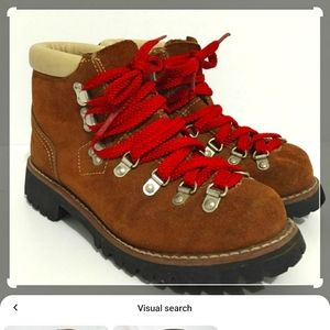 Tan Montblanc survival hiking boots sz 8